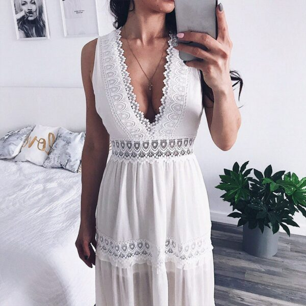 Robe Longue Été Blanche 4 | Soirée Blanche