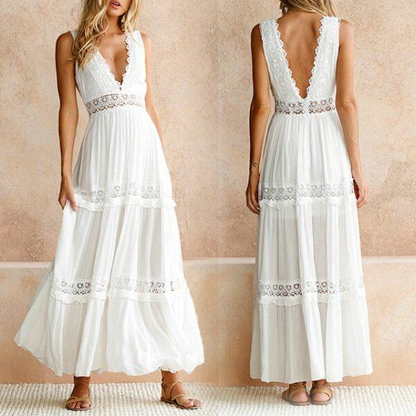 Robe Longue Été Blanche 1 | Soirée Blanche