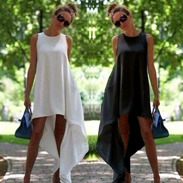 Robe Blanche Courte Devant et Longue Derrière 6 | Soirée Blanche