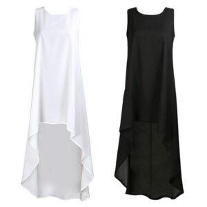 Robe Blanche Courte Devant et Longue Derrière 12 | Soirée Blanche
