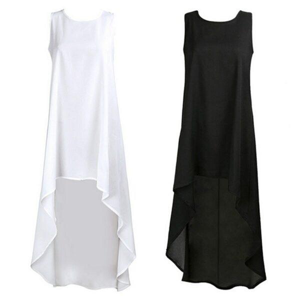 Robe Blanche Courte Devant et Longue Derrière 7 | Soirée Blanche