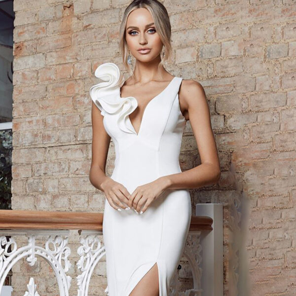 Robe De Cocktail Blanche 2 | Soirée Blanche