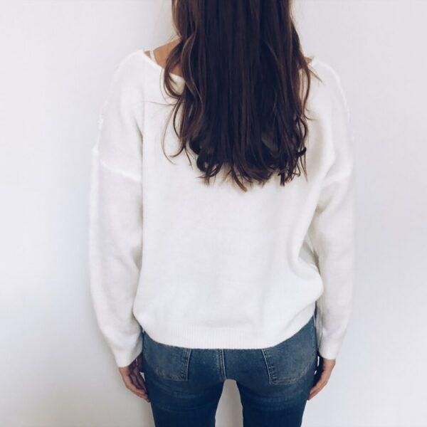 Pull Blanc Femme Dentelle 7 | Soirée Blanche