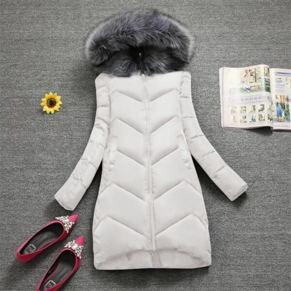 Manteau Blanc Femme Hiver 3   Soirée Blanche
