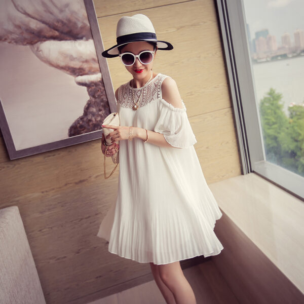 Robe Blanche Courte Femme Enceinte 1 | Soirée Blanche