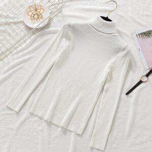 Sous Pull Blanc Femme 20 | Soirée Blanche