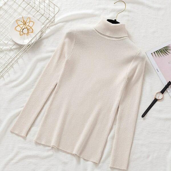 Sous Pull Blanc Femme 11 | Soirée Blanche