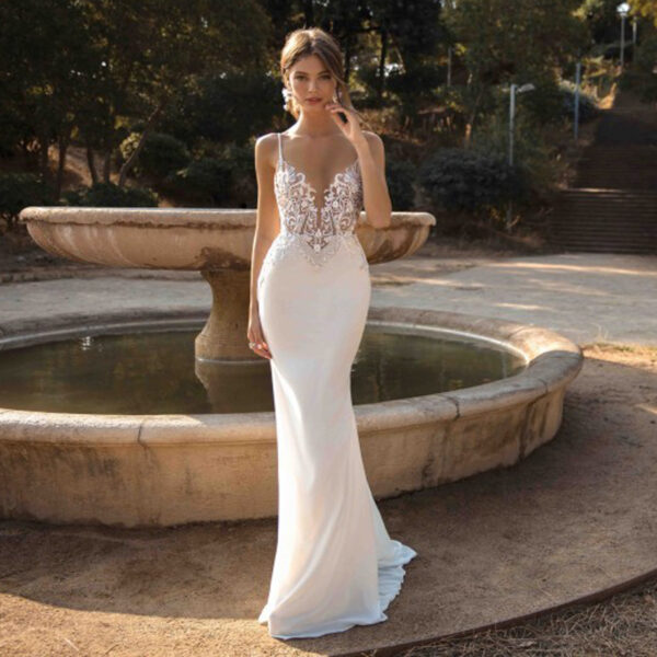 Robe Sirène Mariage 1 | Soirée Blanche