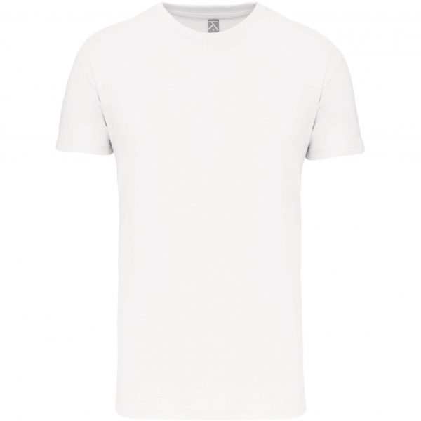 Tee shirt col rond enfant - blanc face