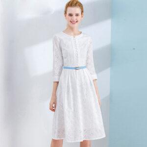 Robe Coton Blanche Dentelle 7 | Soirée Blanche