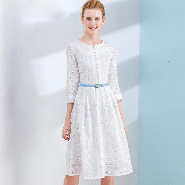 Robe Coton Blanche Dentelle 4 | Soirée Blanche