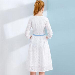 Robe Coton Blanche Dentelle 6 | Soirée Blanche