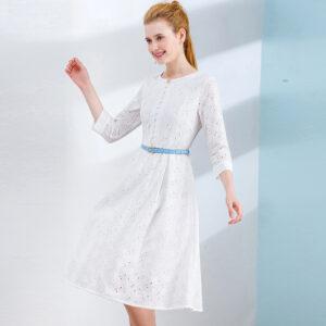 Robe Coton Blanche Dentelle 5 | Soirée Blanche
