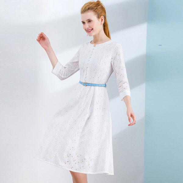 Robe Coton Blanche Dentelle 2 | Soirée Blanche