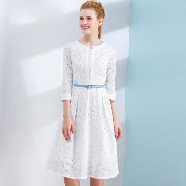 Robe Coton Blanche Dentelle 1 | Soirée Blanche