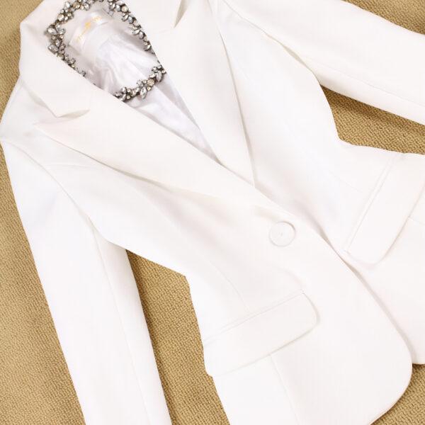 Tailleur Femme Blanc 4 | Soirée Blanche