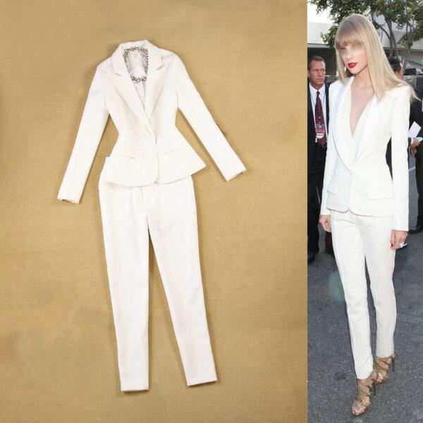 Tailleur Femme Blanc 2 | Soirée Blanche