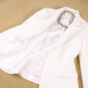 Tailleur Femme Blanc 12   Soirée Blanche