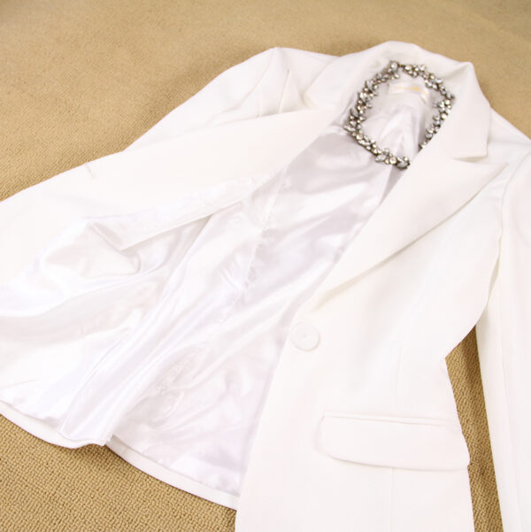 Tailleur Femme Blanc 6 | Soirée Blanche