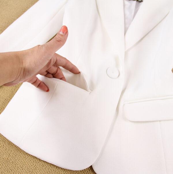 Tailleur Femme Blanc 5 | Soirée Blanche