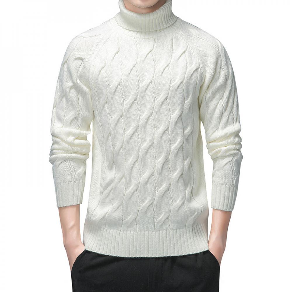 Pull Blanc Vintage Homme