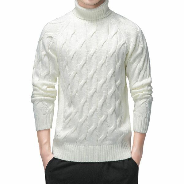 Pull Blanc Vintage Homme 1 | Soirée Blanche