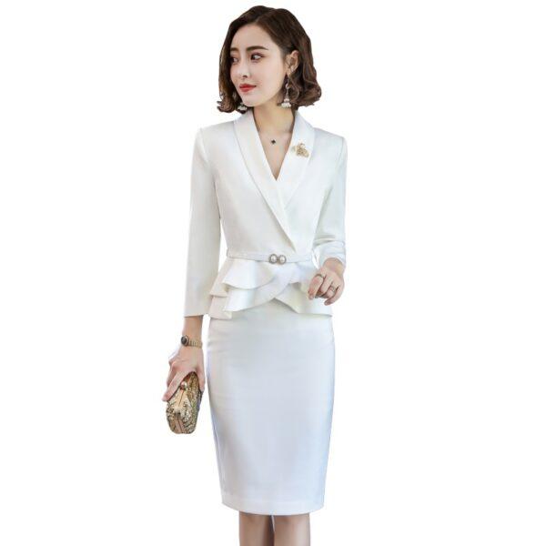 Tailleur Jupe Femme Mariage Blanc 5   Soirée Blanche