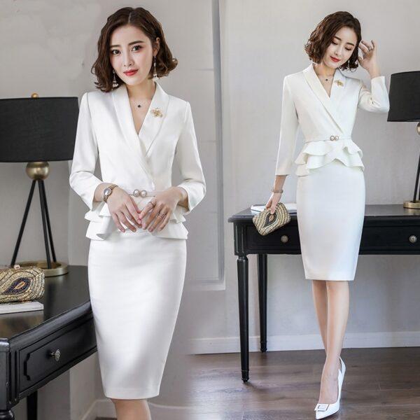 Tailleur Jupe Femme Mariage Blanc 3   Soirée Blanche
