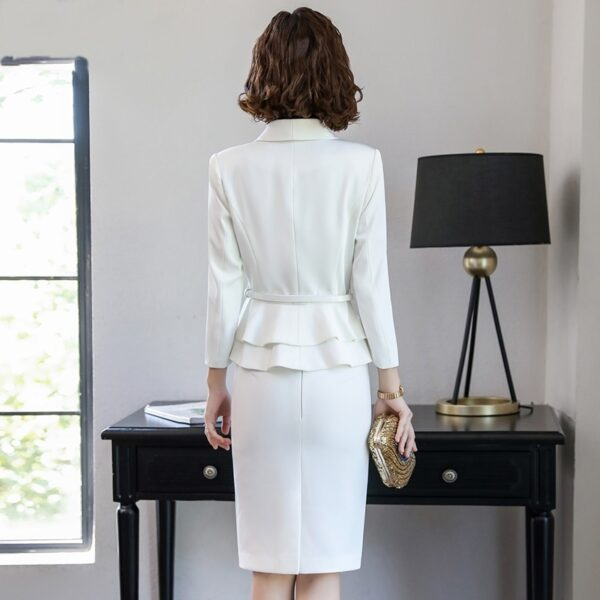 Tailleur Jupe Femme Mariage Blanc 6   Soirée Blanche