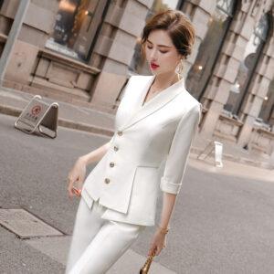 Tailleur Blanc Femme 10 | Soirée Blanche