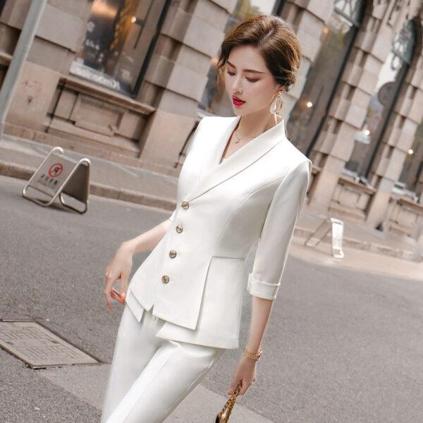 Tailleur Blanc Femme 4 | Soirée Blanche