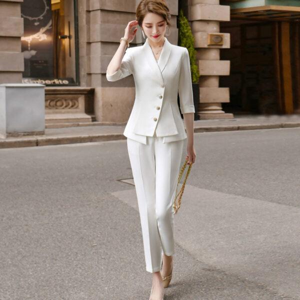 Tailleur Blanc Femme 2 | Soirée Blanche