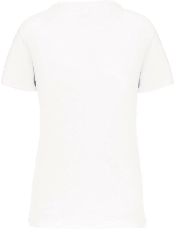 Tee Shirt Blanc Col V Femme 1 | Soirée Blanche