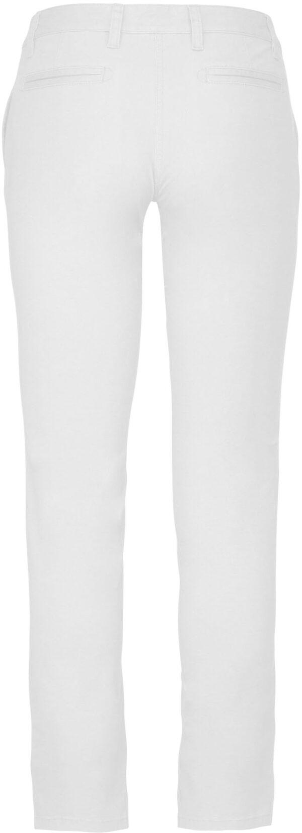 Pantalon Femme Blanc Dos