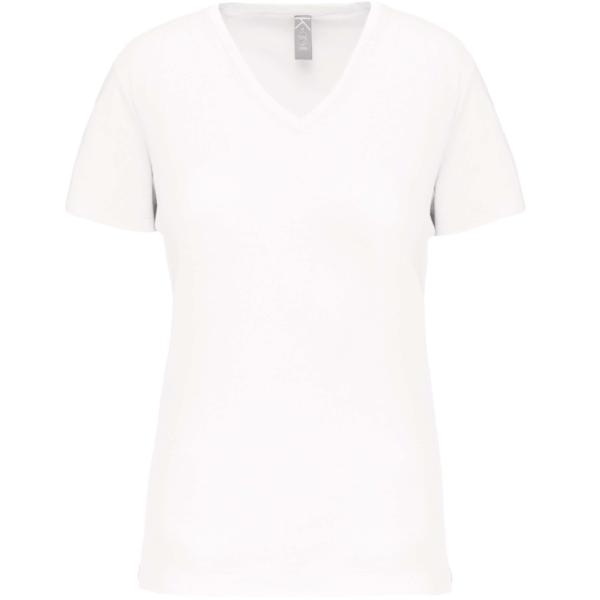 Tee Shirt Blanc Col V Femme | Soirée Blanche