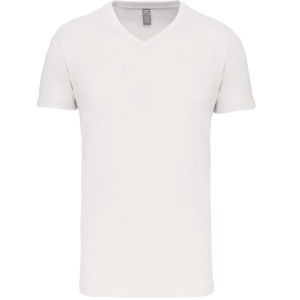 Tee Shirt Blanc Col V Homme | Soirée Blanche