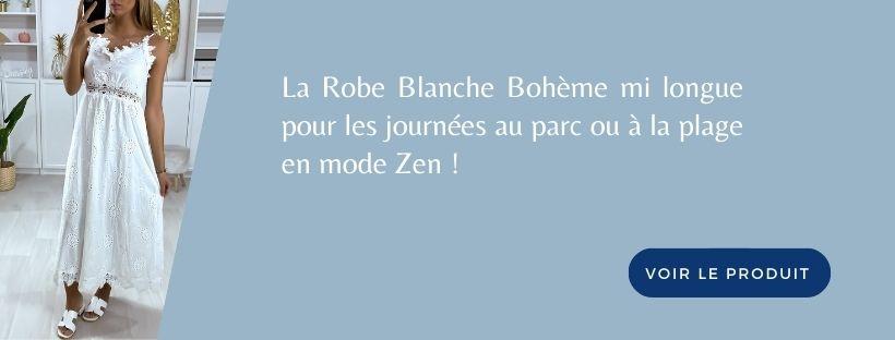 Robe Blanche Bohème Zen