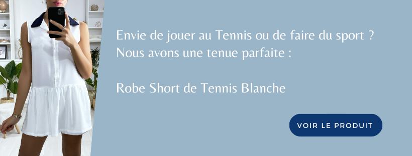 Robe Short Tennis Blanche