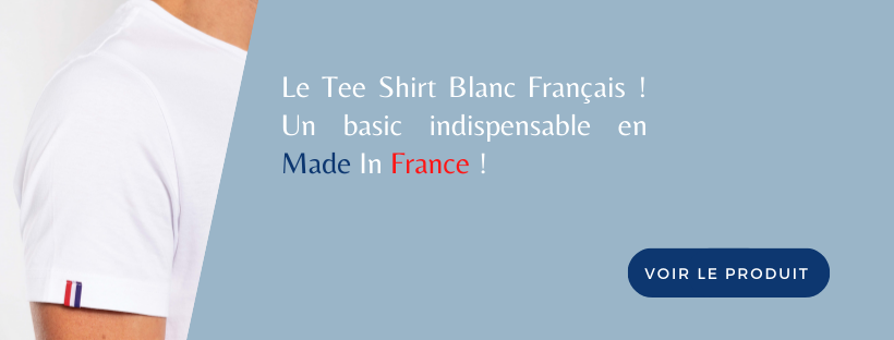 Tee shirt blanc made in france