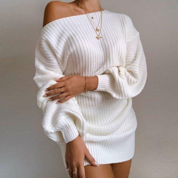 Long Pull Blanc Femme 1 | Soirée Blanche