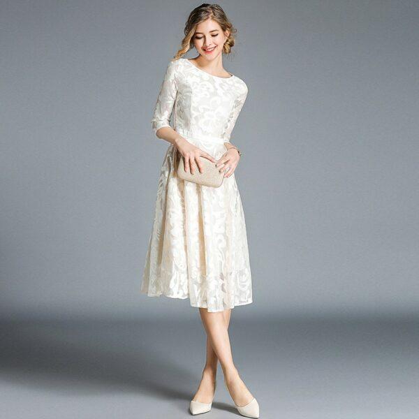 Robe Blanche Patineuse 5 | Soirée Blanche