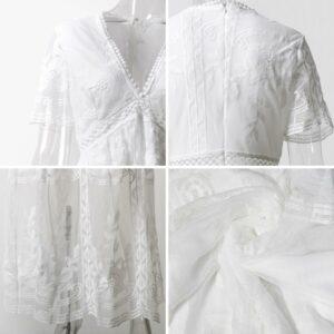 Robe Longue Blanche Dentelle 12 | Soirée Blanche