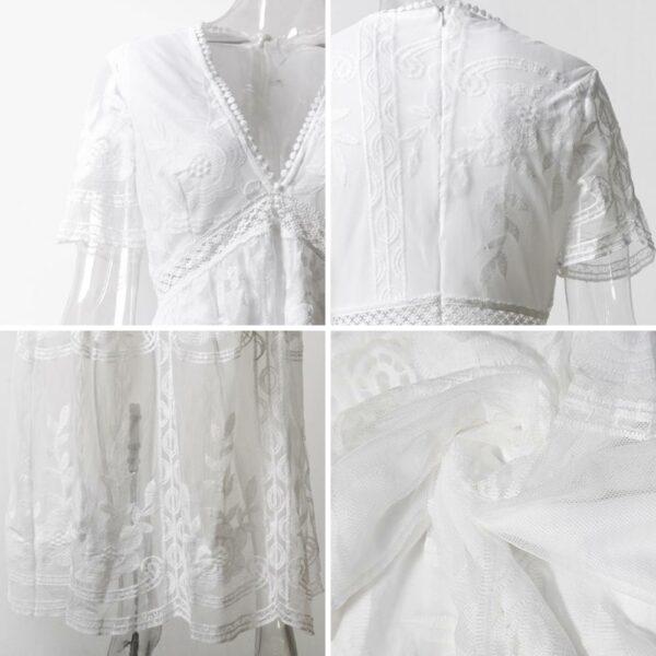 Robe Longue Blanche Dentelle 6 | Soirée Blanche