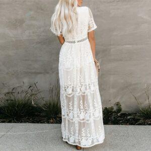 Robe Longue Blanche Dentelle 8 | Soirée Blanche