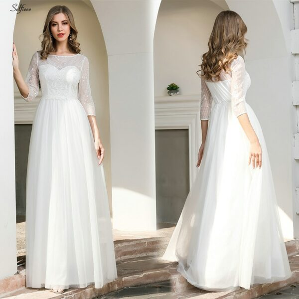 Robe Blanche Mariage Civil 3 | Soirée Blanche