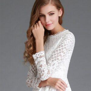 Robe Cocktail Blanche 11 | Soirée Blanche