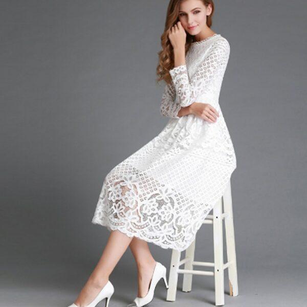 Robe Cocktail Blanche 2 | Soirée Blanche