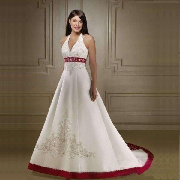 Robe De Mariée Rouge Et Blanche 4 | Soirée Blanche