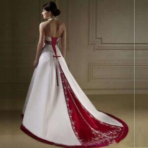 Robe De Mariée Rouge Et Blanche 7 | Soirée Blanche