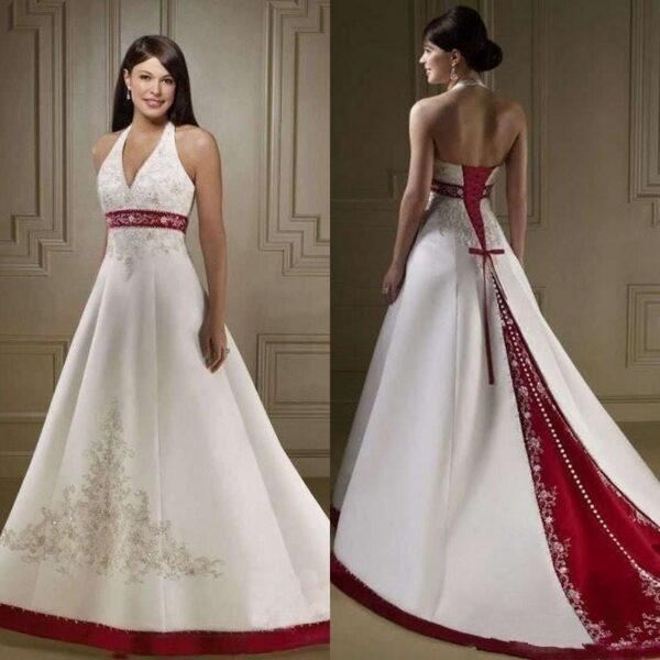 Robe De Mariée Rouge Et Blanche 2 | Soirée Blanche